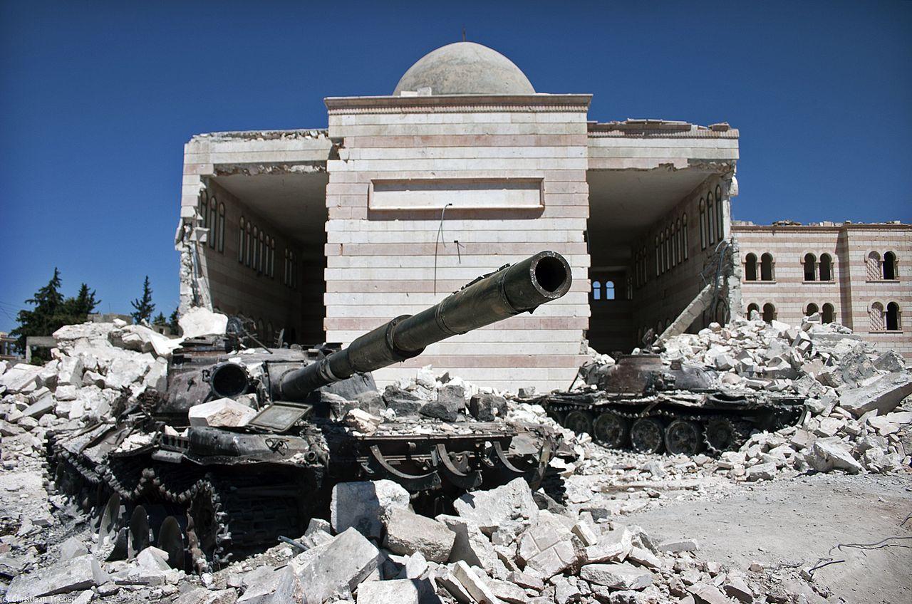 Сожженные сирийские танки