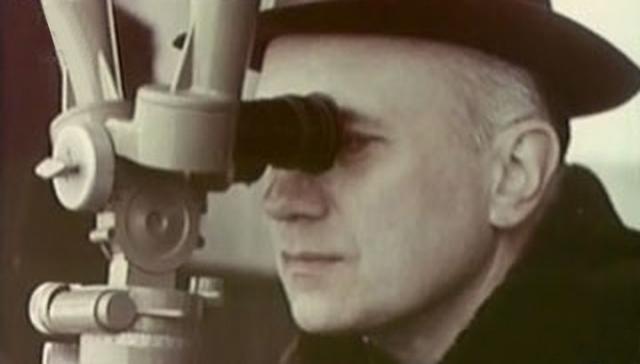 Борис Раушенбах на космодроме