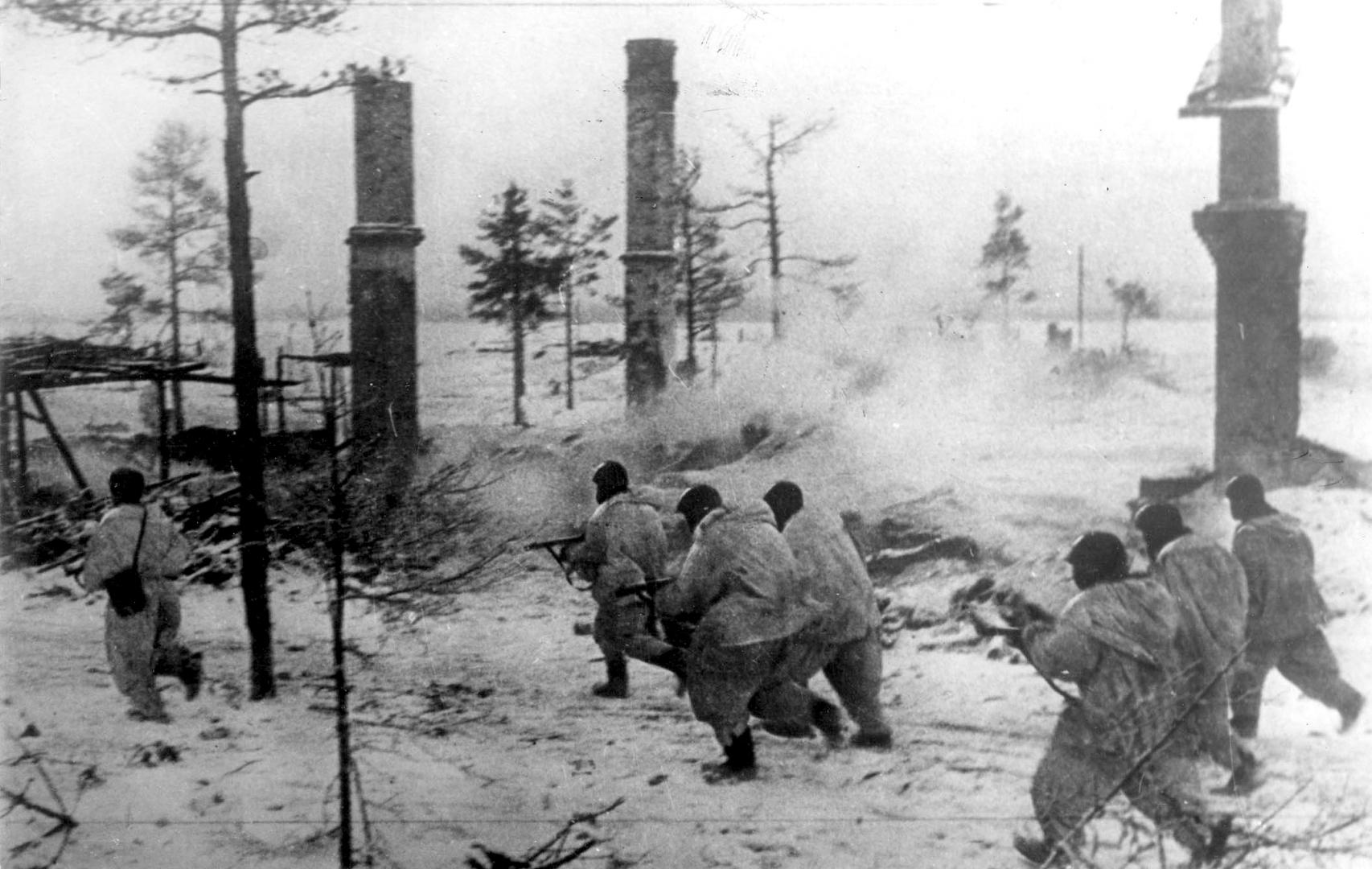 Прорыв блокады Ленинграда. Наступает Волховский фронт. Январь 1943