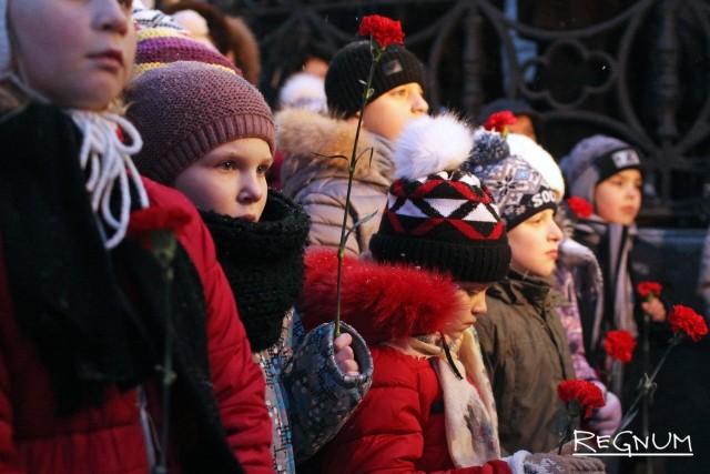 Юные жители города чтут память блокадников