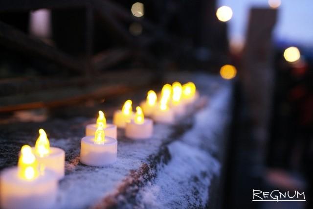 Свечи памяти о погибших