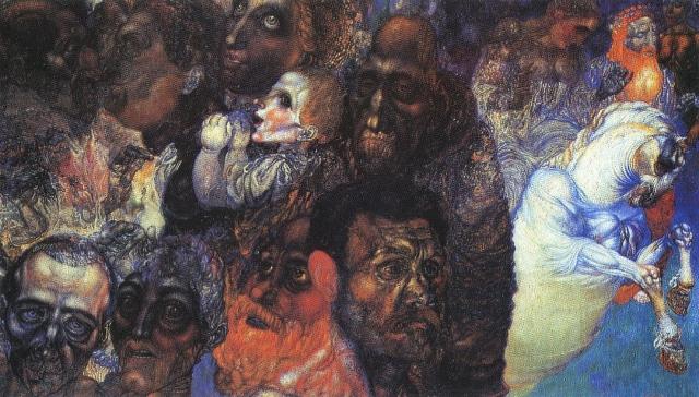 Павел Филонов. Головы. 1910