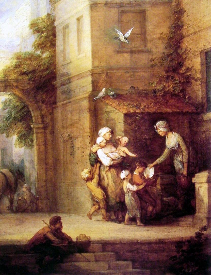 Томас Гейнсборо. Благотворительность, избавляющая от страданий