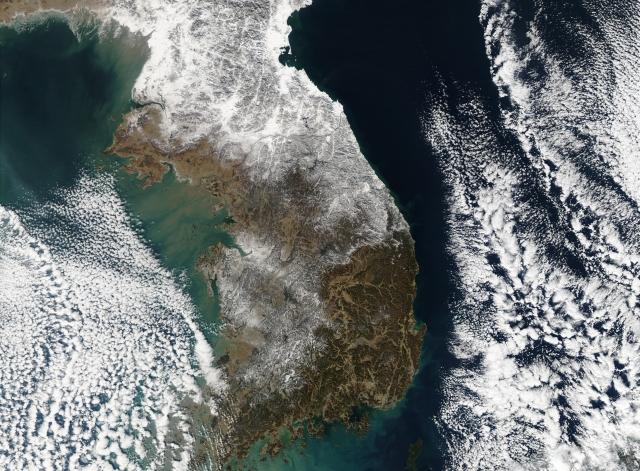 Корейский полуостров из космоса