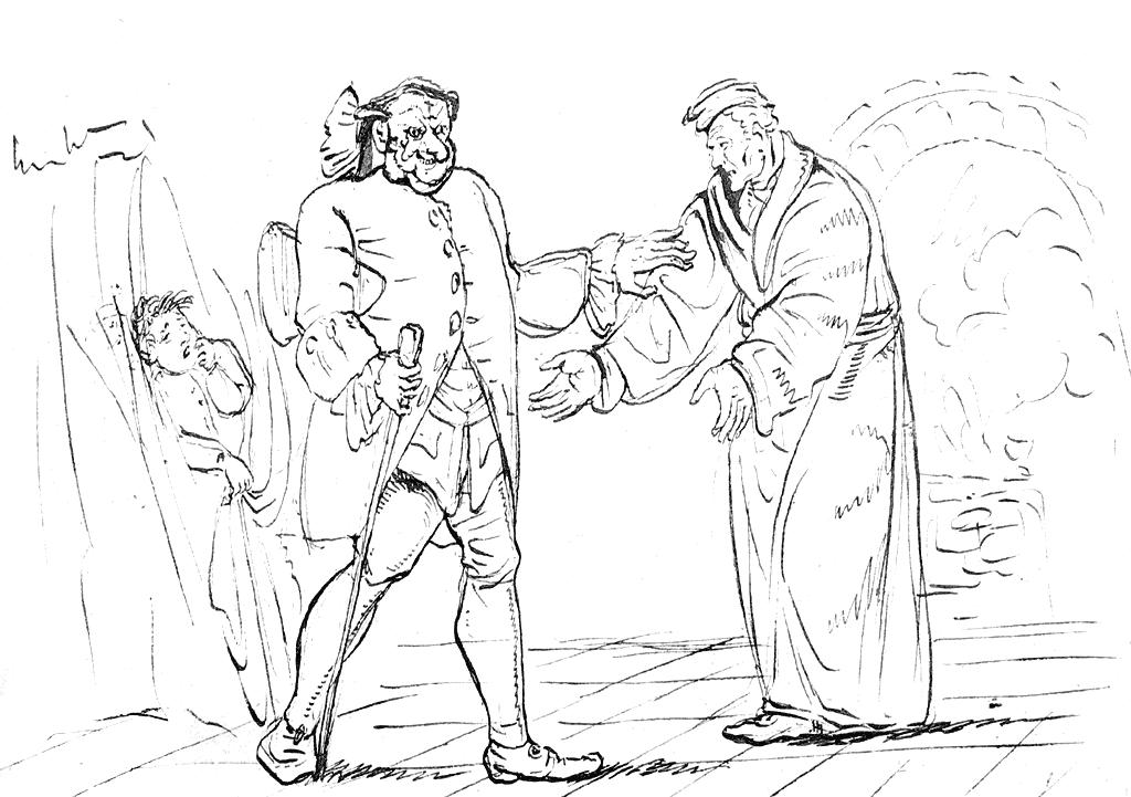Рисунок Гофмана для книги «Песочный человек»