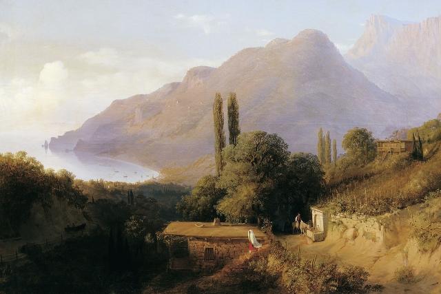 Лев Лагорио. Крымский пейзаж. 1891