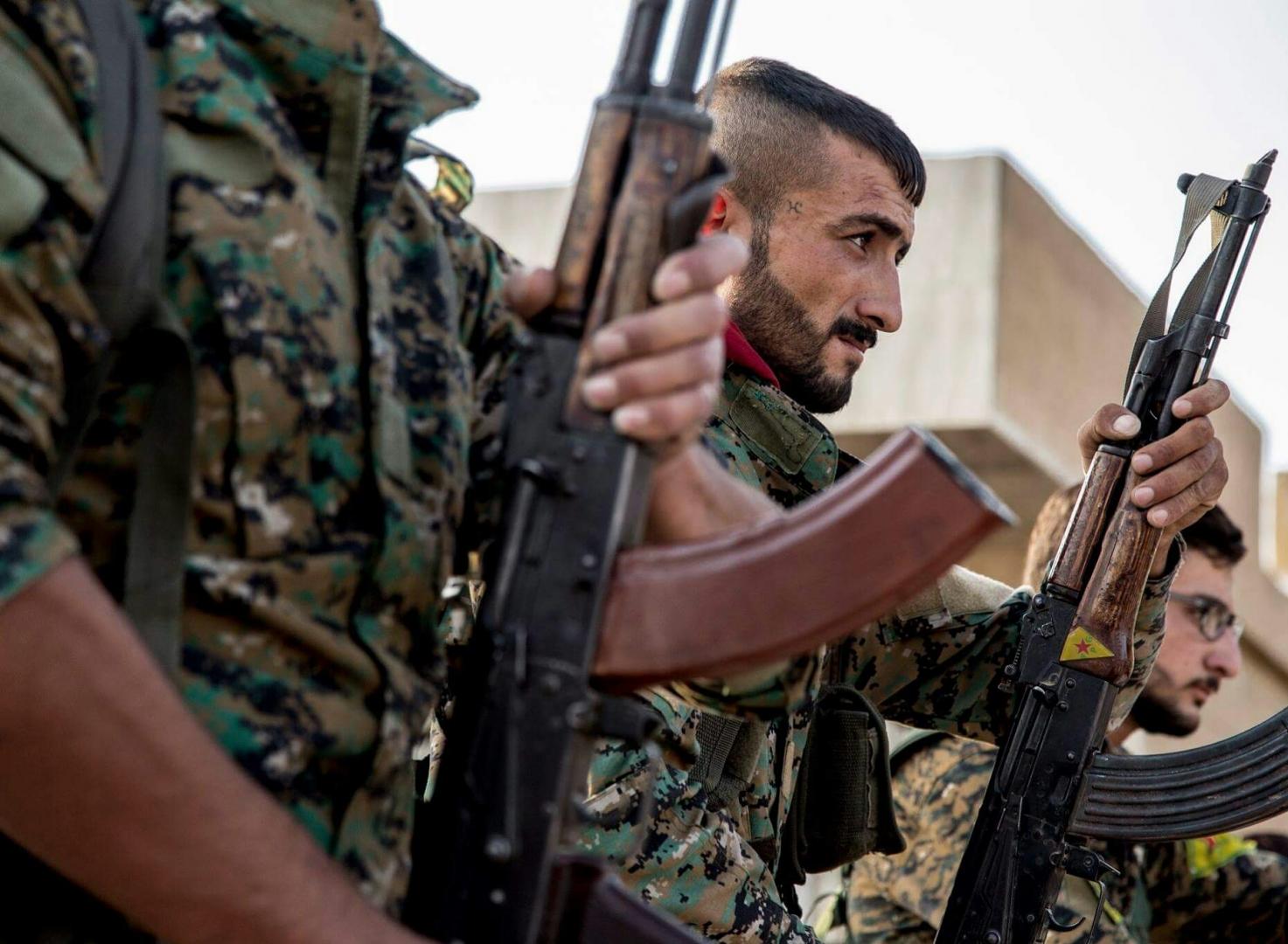 Бойцы YPG