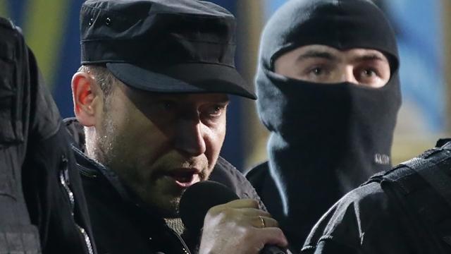 Украинские националисты на майдане. 2014