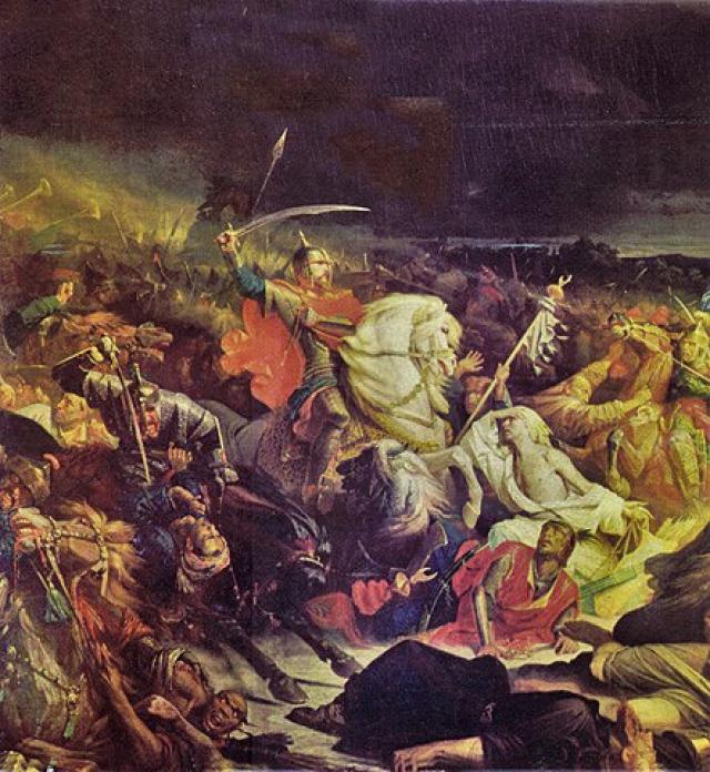 Адольф Ивон. Куликовская битва. 1850