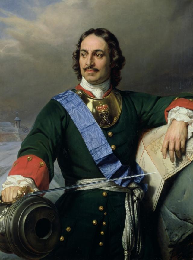 Поль Деларош. Романтизированный портрет Петра I. 1838