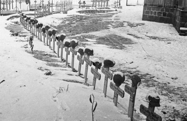 Кладбище немецких солдат под Сталинградом
