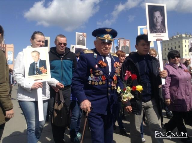 Бессмертный полк в Барнауле