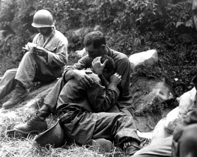 Американские солдаты во время войны в Корее