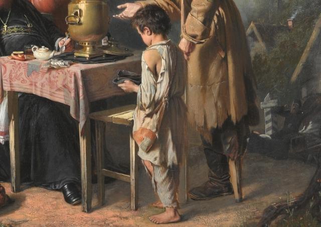 Василий Перов. Чаепитие в Мытищах, близ Москвы (фрагмент) 1862
