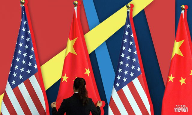 Флаги Китая и США. Иван Шилов © ИА REGNUM