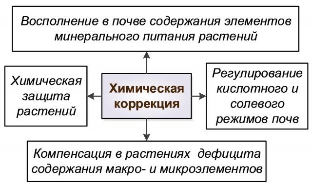 Рис. 6. Основные мероприятия химической коррекции