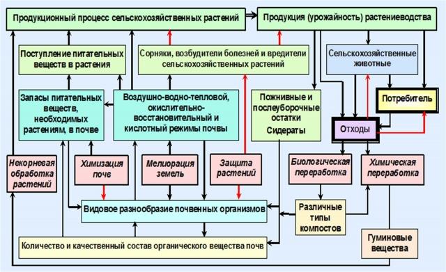 Рис. 13. Управление продукционным процессом сельскохозяйственных культур