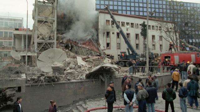 Результат бомбардировок НАТО. Белград. 1999
