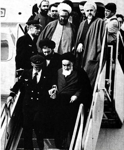 Возвращение Хомейни в Иран после 14 лет изгнания, 1 февраля 1979 года