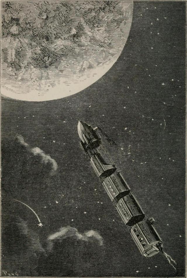 Иллюстрация к книге «С Земли на Луну прямым путём за 97 часов 20 минут»