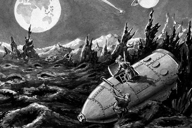 Иллюстрация к книге Жюля Верна «С Земли на Луну»