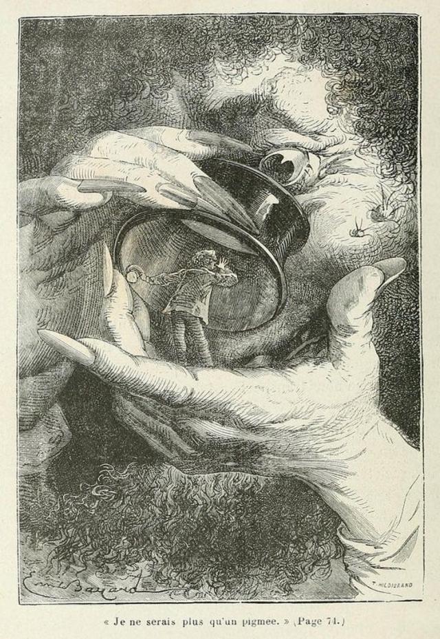 Фантастические иллюстрации 1870 года книги Жюля Верна «С Земли на Луну»