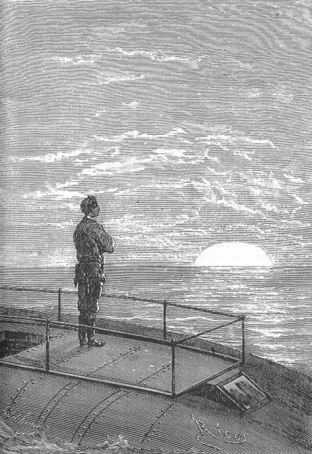 Жюль Верн. «Двадцать тысяч лье под водой». Иллюстрация из книги