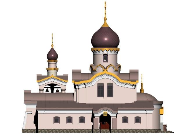 Один из проектов храма на Мартюше