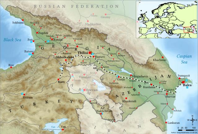 Железная дорога Баку — Тбилиси — Карс