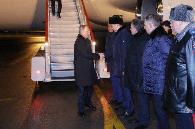Владимир Путин с рабочим визитом прибыл в Новосибирск