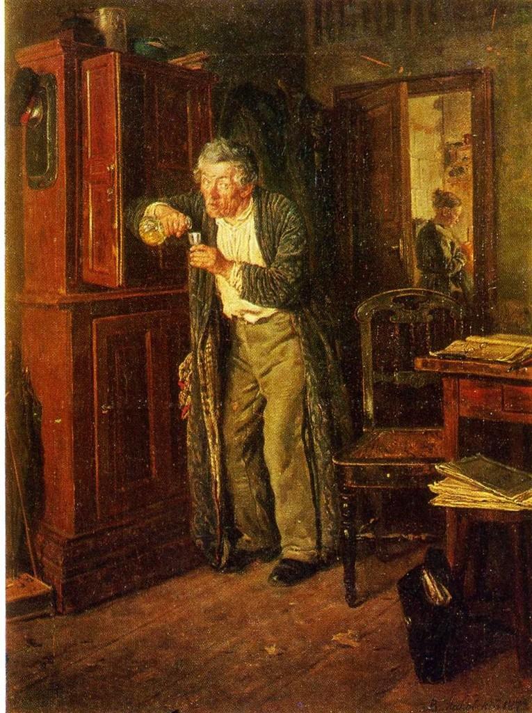 Владимир Маковский. Тихонько от жены. 1872