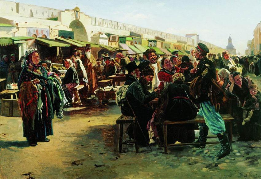 Владимир Маковский. В полдень. 1875