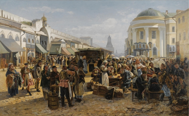 Владимир Маковский. Толкучий рынок. 1879—1880