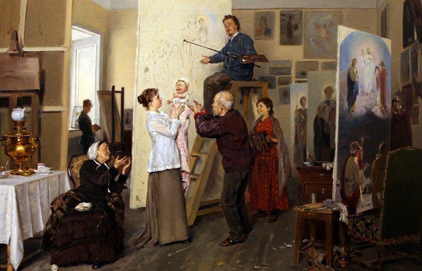 Владимир Маковский. Семья художника. 1893