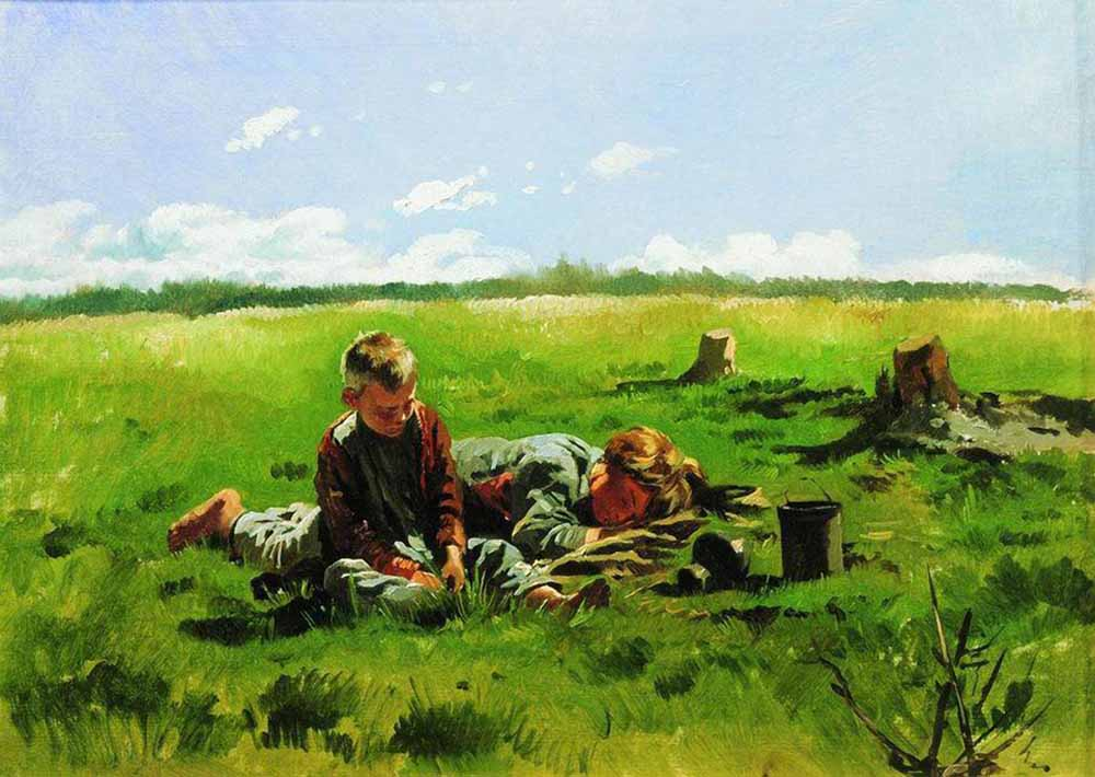 Владимир Маковский. Мальчики в поле
