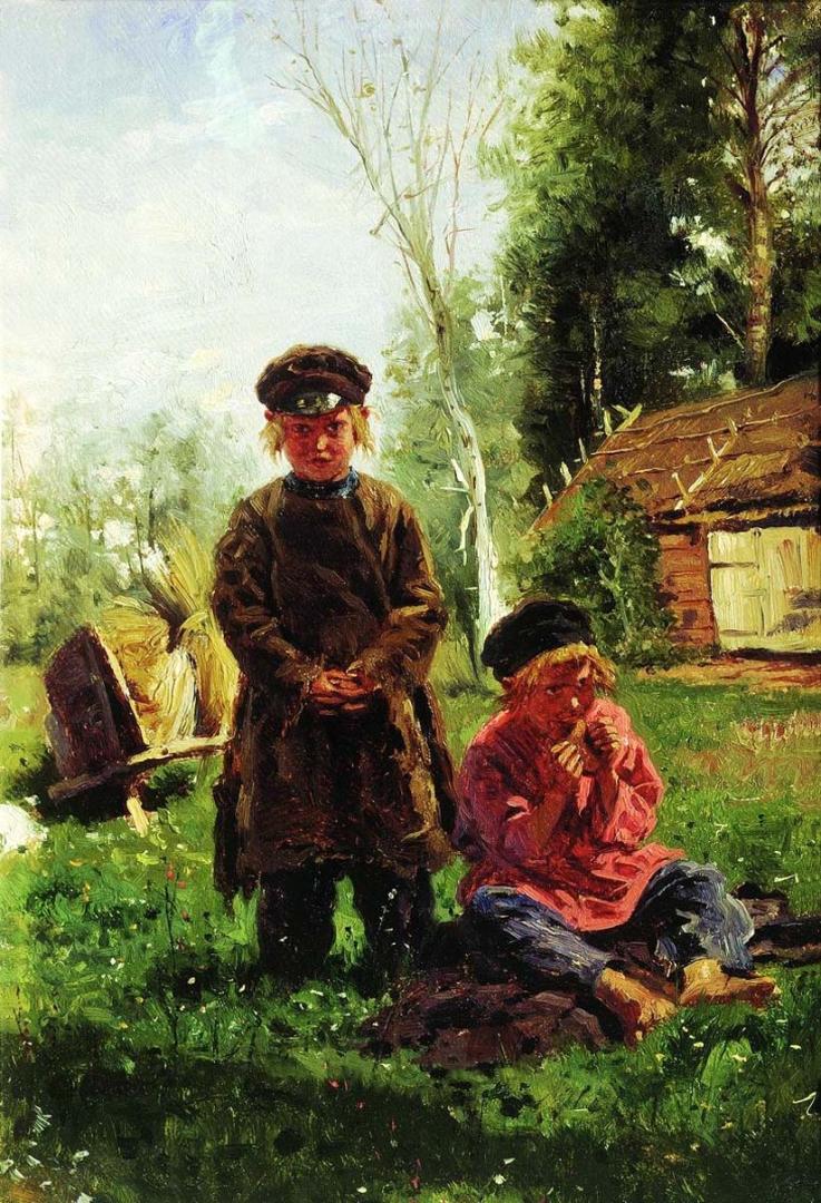 Владимир Маковский. Крестьянские мальчики. 1880