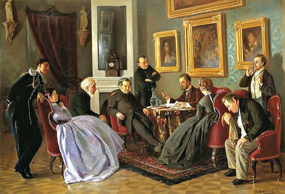 Владимир Маковский, Литературное чтение, 1866