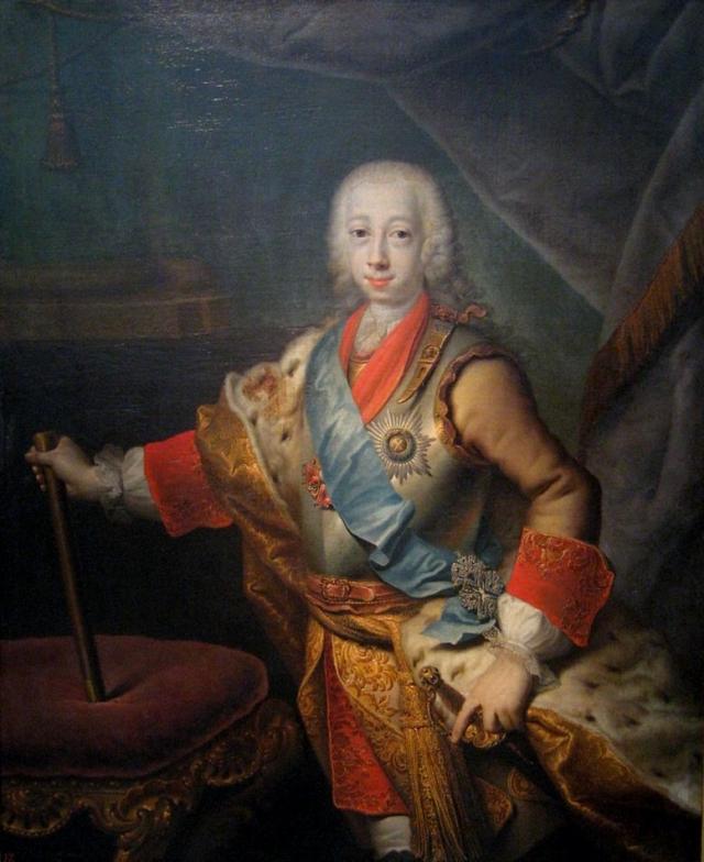 Георг Христофор Грот. Пётр Фёдорович в бытность Великим князем. 1743