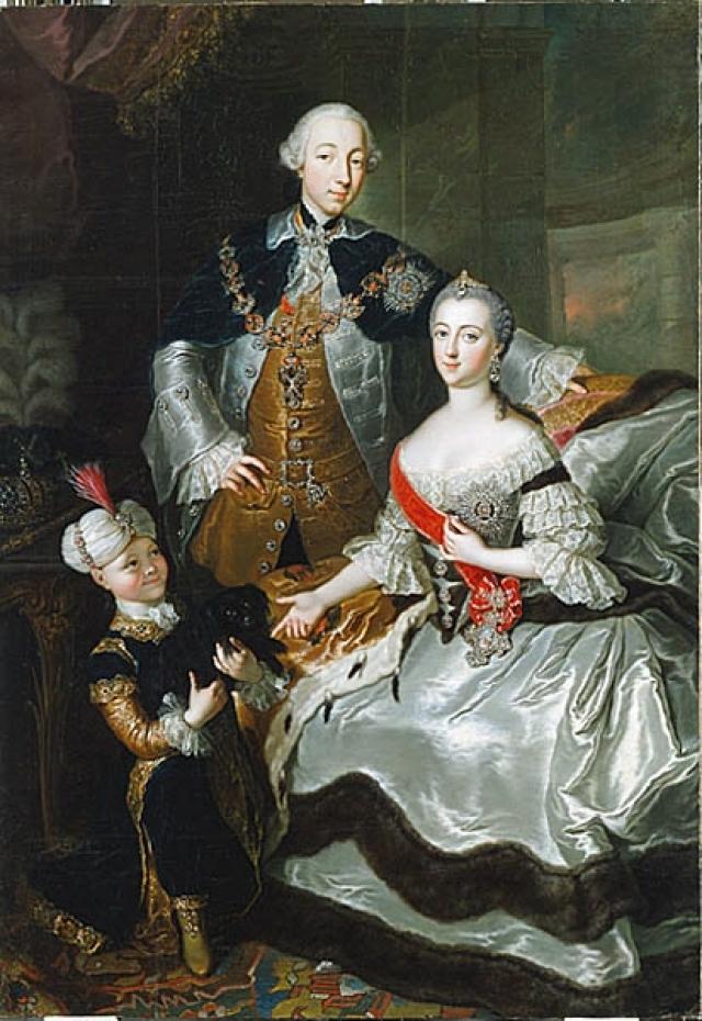 Анна Розина де Гаск. Пётр Фёдорович со своей супругой Екатериной Алексеевной. 1756
