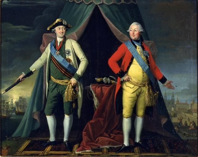 Жан Луи де Велли. Братья Алексей и Григорий Орловы. 1770-е