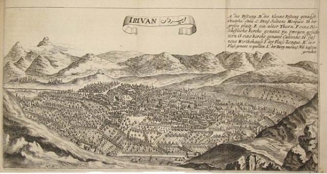 Ж. Шарден. Город Иреван. 1673