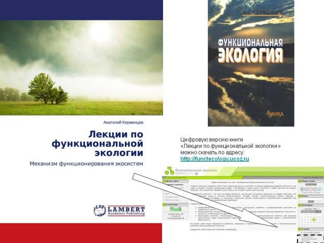 Книги А.С. Керженцева по функциональной экологии