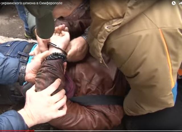 Обнародовано видео задержания в Крыму украинского шпиона