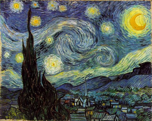 Винсент Ван Гог. Звездная ночь. 1889