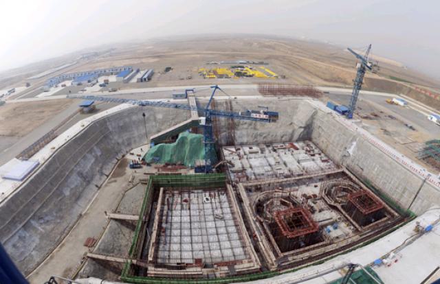 Стройплощадка АЭС Шидаовань