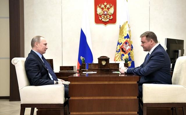 Встреча Владимира Путина с Николаем Любимовым