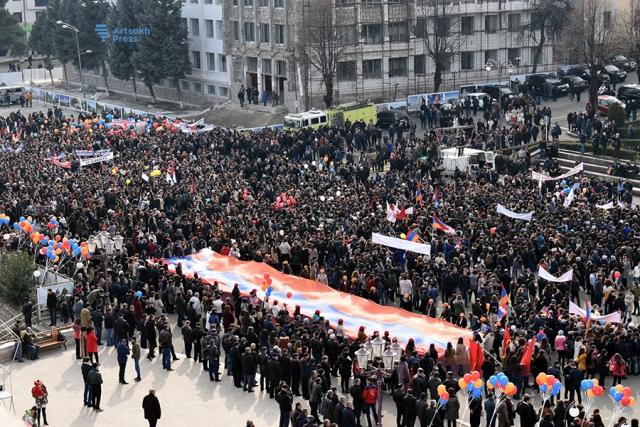 В Степанакерте прошел митинг, посвящённый 30-летию карабахского движения