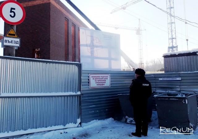 Территорию перед визитом Михаила Бабича оцепили стражи порядка