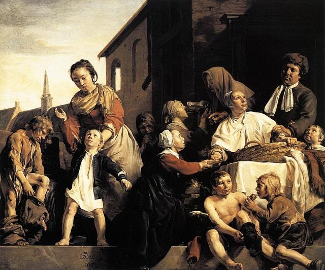 Ян де Брай. Забота о сиротах. 1663