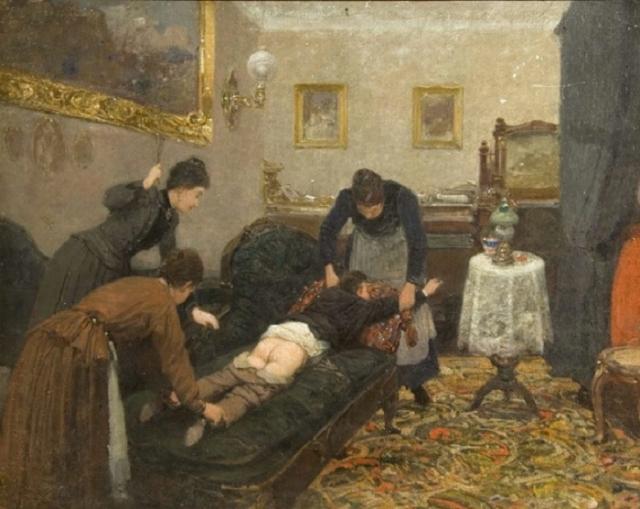 Павел Ковалевский. «Порка». 1880